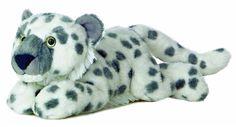 """12"""" Aurora Plush Snow Leopard White Flopsie Jungle Cat Stuffed Animal Toy 31525 #Aurora #Flopsie"""