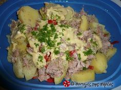 Πατατοσαλάτα με τόνο #sintagespareas Salad Recipes, Healthy Recipes, Healthy Food, Good Food, Yummy Food, Le Chef, Salad Bar, Potato Salad, Seafood