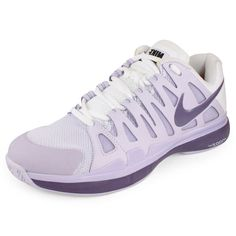Women`s Zoom Vapor 9 Tour Tennis Shoes Pure Violet/White