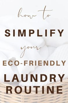 Do you struggle to keep up with mundane (and never-ending!) household chore that is the laundry? Inside:Smart strategies to simplify the laundry, dishes, and general home cleaning; tangible ways to perform these tasks in an eco-friendly manner, too.