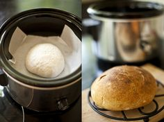 You can cook Bread in your Crock Pot! - It takes less time than the oven because the rising time is included in the Baking - any prepared dough will do :)