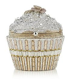Judith  Leiber sequin cupcake clutch bag
