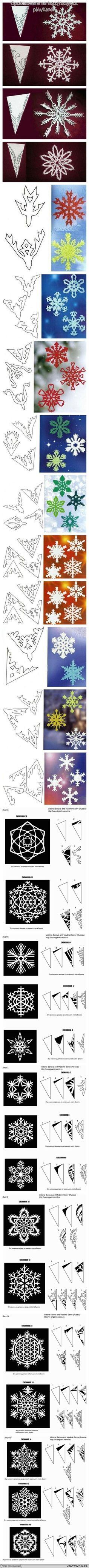 Kar taneleri nasıl yapılır.