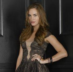 Charlotte's BCBGMAXAZRIA Norelia Lace Dress Revenge Promotional Shoot - Spotted on TV