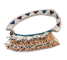 Africa | Belt or cache-sexe from Lesotho | Cotton and glass beads | 20th century
