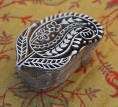 paisley stamp from india - may be a cool shape/design for embroidery sampler