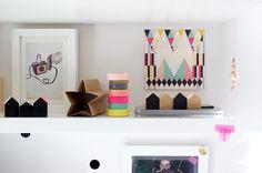 On the shelf - village houses and color palette Artoleria