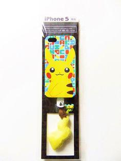 Rare Pikachu Tale Earphone Jack Accessory & iPhone 5 Soft Case Pokemon Center