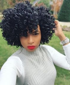 I'm also pinning it because of her makeup. It's so hard for black women to pull off a good red lip