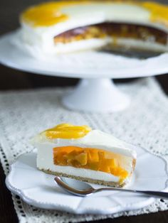 Brzoskwiniowo-jogurtowy sernik na zimno - Przepis Panna Cotta, Cheesecake, Ethnic Recipes, Sweet, Food, Friends, Candy, Amigos, Cheese Cakes