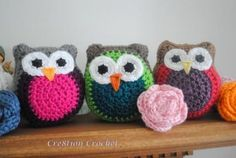 Vibrant Baby Owls Free Crochet Pattern