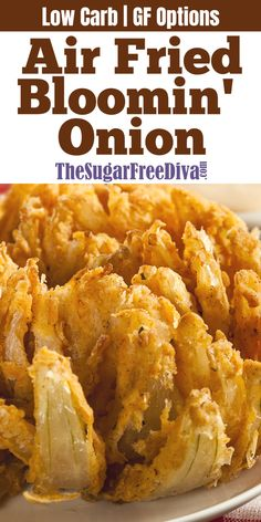4 Points About Vintage And Standard Elizabethan Cooking Recipes! This Air Fried Blooming Onion Recipe Is A Great Alternative To Usual Oil Fried Version. Make This Yummy Appetizer Recipe Low Carb Or Gluten Free With The Options In The Recipe. Air Fryer Oven Recipes, Air Frier Recipes, Air Fryer Dinner Recipes, Air Fryer Recipes Gluten Free, Yummy Appetizers, Appetizer Recipes, Blooming Onion Recipes, Recipe For Blooming Onion In Air Fryer, Recipe With Onion