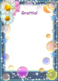 Gratis utskrivbara födelsedagskort för barn Photo Frame Design, Bra Hacks, Diy And Crafts, Paper Crafts, My Little Pony, Kindergarten, Happy Birthday, Presents, Gull