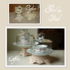 DIY pedestal dishes with salvaged finds...