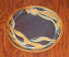 Handmade pottery dinner plate, goldstone // cascadia stoneware