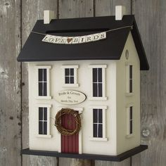 I must have this! Wedding bird house card box.