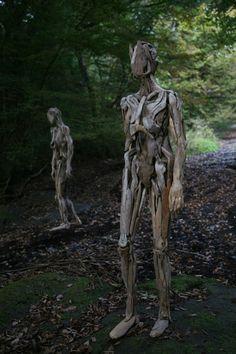 Haunting Driftwood Sculptures By Japanese Artist Nagato Iwasaki   Bored Panda
