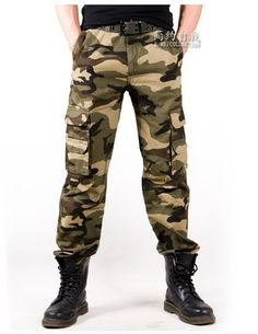MEN Military BDU Pants - Army Cargo Fatigue Camouflage Camo M4823 US:36 WAIST