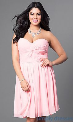 d7592ad8cf15e Corset-Back Short Plus-Size Party Dress in Blush Pink. Plus Size Homecoming  DressesPink Plus Size DressesProm Dresses 2017Formal ...