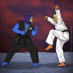 Funny Cartoon Photos, Cartoon Art, Comic Books Art, Comic Art, Hee Man, Karate Kid Cobra Kai, Art Jokes, Nerd Art, Thundercats