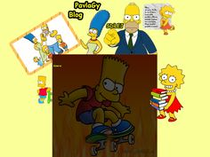My Simpsons design for blog.