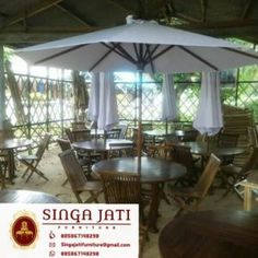 Harga-Kursi-Lipat-Meja-Payung-Kayu-Jati Online Furniture, Gazebo, Outdoor Structures, Interior, Indoor, Deck Gazebo, Interiors, Cabana, Arbors