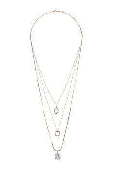 Semi Precious Layered Necklace