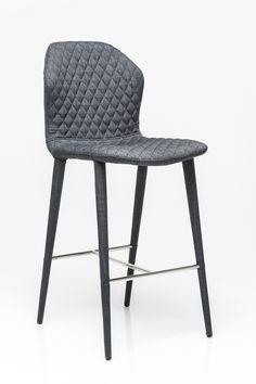 KARE Design :: Hoker / Krzesło barowe Atlantis ciemnoszary 79536 | Salon meblowy Warszawa 9design