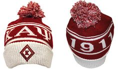 911a1643 This Kappa Alpha Psi Knit winter hat is a cuffed knit with Kappa Alpha Psi  and Phi Nu Pi graphics on the crown, stitched 1911 logo on the front, ...