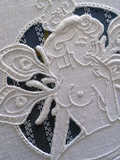white on white embroidery and cutwork!