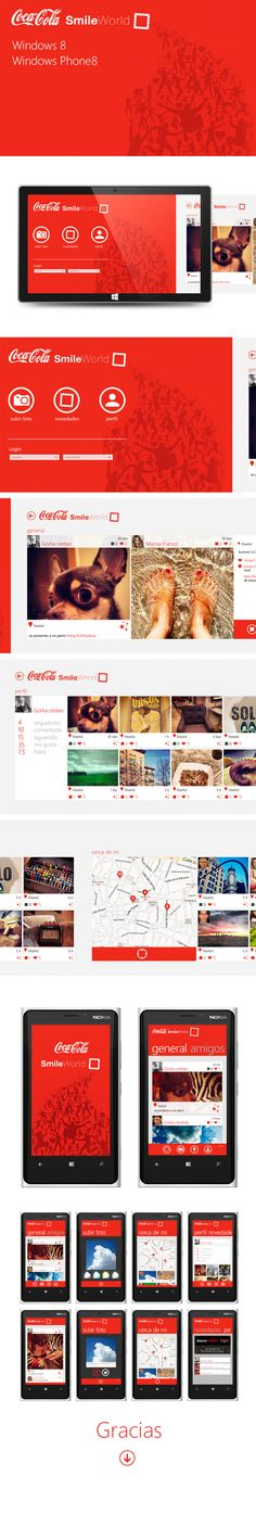 CocaCola Smile World / Windows 8 by Jorge Martinez, via Behance