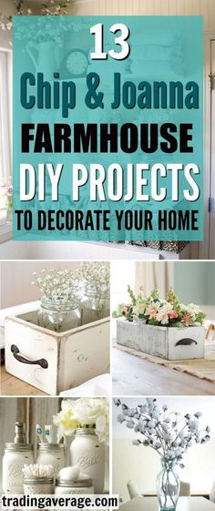 DIY Farmhouse Décor Ideas That You Need To Try Are you looking for Farmhouse Decor projects, inspired by Chip and Joanna Gaines? This article will give you 13 amazing DIY Farmhouse projects that you will love!Gaines Gaines may refer to: Country Farmhouse Decor, Farmhouse Design, Farmhouse Décor, Farmhouse Ideas, Country Living, Farmhouse Decor Bathroom, Farm House Bathroom, Country Modern Decor, Industrial Farmhouse Decor