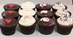 Ship our Sweetheart Dozen to your sweetheart!  3 Red Velvet, 3 Chocolate Marshmallow, 3 Strawberry Truffle, 3 Boston Cream Pie