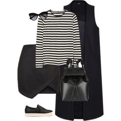 Untitled #202 by dorkaujhazi on Polyvore featuring moda, Proenza Schouler, Topshop, Mansur Gavriel #THISISNON vest and D&G