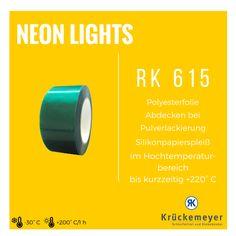 RK 615 - Polyesterfolie zum Abkleben bei Pulverlackierung bei kurzzeitiger Anwendung bis 220 °C #Krueckemeyer #Klebeband #Adhesive #Tape #Lackierung #Pulver #Hohe #Temperatur