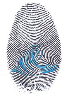 Here's the artwork I've created, the finger print with the wave inside it is really important because (I think) it pretty much sums the idea of surf life, and identity, everything to do with it.