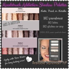 Moodstruck Addiction Shadow Palettes available in 3 different sets, September 1st! www.semperfablashes.com