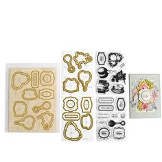 Anna Griffin® Treasury of Stamps & Dies Auto-Ship®- Grace Black Floral