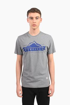 Penfield.com |  Mens Mountain Logo Grey Tee