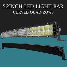 "20 22/"" UTV Led Radius Light Bar Curved Work Bright Spot Flood Combo Performance"