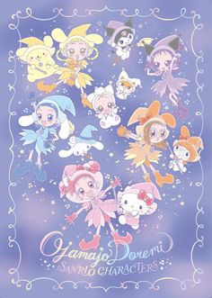 Ojamajo Doremi x Sanrio Sanrio Wallpaper, Space Phone Wallpaper, Sanrio Danshi, Ojamajo Doremi, Disney Images, Old Anime, Beautiful Anime Girl, Anime Art Girl, Anime Shows