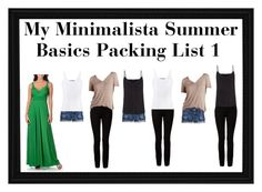 """My Minimalista Summer Basics Packing List 1"" by dance-of-joy ❤ liked on Polyvore featuring Von Ronen, J.Crew, T By Alexander Wang, Vince, Charlotte Russe and Paul Smith"