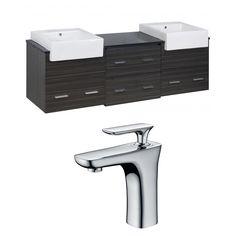 "Xena Farmhouse 72"" Double Plywood-Melamine Bathroom Vanity Set"