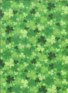 Green shamrock fabric