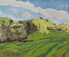 "Art Original Plein Air Oil Painting Appalachian Landscape Fournier ""Accros A Spring Field"" by Fournierpainter on Etsy https://www.etsy.com/listing/192099476/art-original-plein-air-oil-painting"