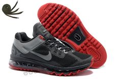 promo code 6aedf 1b592 Charcoal Red Nike Air Max 2013 Mens Running Shoes Online