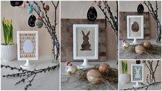 Húsvéti képkeret - dekoráció, Masni - IKEA hack, Ikea Tolsby frame for Easter decortion, DIY, easy