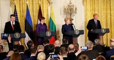 """Little Donnie Shithole, a fake president and complete asshole, during a press conference Tuesday mocked the American press, telling the president of Latvia to pick a """"Baltic reporter"""" to ask a question. """"Pick a reporter, please,"""" Trump said to the President of Latvia, Raimonds Vejonis, during the press conference with leaders of Baltic nations. """"A Baltic reporter ideally. Real news, not fake news.""""Trump frequently rails against the media, accusing reporter..."""