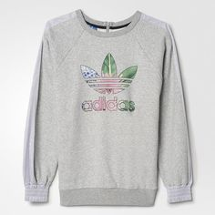 adidas - Training Floral Logo Sweatshirt