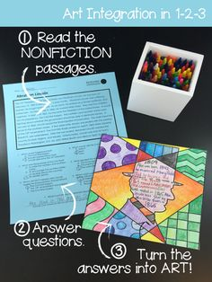 Have some fun with nonfiction reading comprehension in your classroom this year. Use these unique reading comprehension passages and coloring pages for truly one-of-a-kind artwork from your students! There are 12 passages and each passage has 3 reading levels - use them all year!